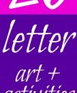 Letter of the Week ~ Letter Activities ~A - M