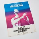 vintage 1976 Salò, 120 Days of Sodom by Pier Paolo Pasolini, large French cinema poster, 57 x 76 cm, France, Italian cult movie seventies