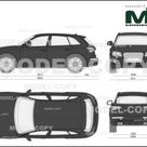 Audi SQ5 TDI 2013   2D drawing blueprints   24093   Model COPY   English