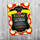 Mickey Mouse Baby Shower Invitations, Boy Baby Shower invitation, Mickey Mouse Baby Shower Invitation, It's a Boy Baby Shower Invites