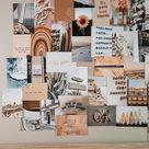 creamy  neutral collage kit   wall decor, boho aesthetic   tan aesthetic print kit