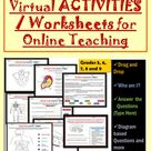Virtual Worksheets on 6 Body Systems Online Activities Mega Bundle with Answer Keys for Grades 5 - 9