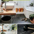 Badezimmer Fußboden Makeover – wie wir Klick-Vinyl über unsere alten Fliesen verlegt haben - luziapi