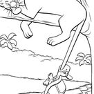 A Turtle Bite Bagheeras Tail In The Jungle Book Coloring Page