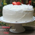 Strawberry Coconut Cakes