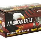 Federal American Eagle Varmint & Predator 22-250 50 Grain Jacketed Hollow Point 50 Round Box AE2225050VP