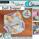Baby doll diaper PDF/ English pattern / doll diaper / doll diaper pattern / children toys / doll accessories / DIY