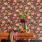 Starke Kontraste in Farbe:Tapete Sundari Anthrazit von Eijffinger