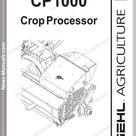 Gehl Agri Cp1000 Crop Processor Parts Manual 908029 Manual Processor Agri
