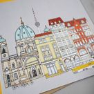 Berlin Greetings Card - Berlin Cityscape - Berlin Engagement - Berlin Landmarks