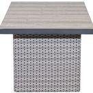 Ploß Louvra Lounge-Tisch natur-anthrazit Polyrattan Rattanmöbel 132x80cm Tischplatte Keramikfliesen