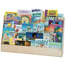 Wooden Book Display, Wide Bookcase