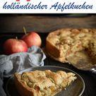 Appeltaart. Holländischer Apfelkuchen.