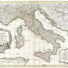 Italy; Lovely First Quality Antique Replica; 1770 Janvier Map