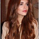 copper brunette hair