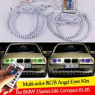 USD$18 For BMW 3 Series E46 Compact 2001 2002 2003 2004 2005 16 colors RGB Angel Eyes LED Halo Rings RF Wireless Control DRL