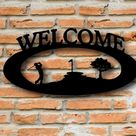 Outdoor Metal Welcome Sign Golfing Signs Custom made Signs   Etsy