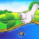 The Ant and the Dove Short Story with Moral in English