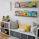Bücher Aufbewahrung im Kinderzimmer - Kreativ Ordnung schaffen