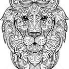 Handgezeichnete Doodle zentangle Löwe Illustration. Dekorative Ornat Vektor Löwe Kopfzeichnung Stock Vektorgrafik Lizenzfrei 479741074