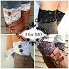 Lace boot cuff Accessories black floral stretch lace 2 for   Etsy
