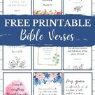 Beautiful Free Printable Bible Verses