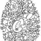 ▷ 1001 + idées de coloriage de Pâques facile à imprimer