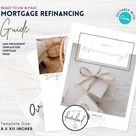 Refinancing Guide for Mortgage Brokers   Mortgage Broker Marketing   Mortgage Templates   Editable CANVA   Instant Download   REFI   Blush