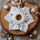 Read the full title Makramee Stern / Ornament / Weihnachts Dekoration / Christmas / Geschenk / Wandbehang / Schneeflocke / Weihnachtsdeko / Mandala