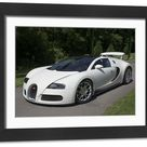 Large Framed Photo. 2009 Bugatti Veyron Grand Sport
