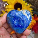 Deep Cobalt Blue Lapis Lazuli Hearts (Lot 1) - C (146g)