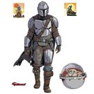 The Mandalorian with Child - Officially Licensed Star Wars Removable Wall Decal XL by Fathead   Vinyl
