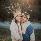 Super easy DIY nature crowns for kids or adults! Perfect craft for homeschooling or photo shoots!