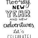 Handlettering Printable Happy New Year 2016   Luloveshandmade
