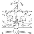Ausmalbild Artisten im Zirkus zum gratis ausdrucken
