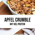 Protein Apfel Crumble - kalorienarm - vegan - gesund - Rezept - Beets and Treats