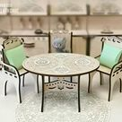 Dollhouse KITCHEN TABLE with chairs - Miniature Doll house furniture