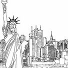 Anti Stress Coloring Pages New-York
