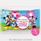 EDITABLE Minnie Mouse Clubhouse .78oz Rice Krispies Treats Label, Printable Rice Krispies Treats Template, Instant Download Corjl CLB2