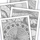 A4 Ausmalbilder für Erwachsene   PDF Download   Digitale Mandala Malvorlagen   Ausmal-Set Erwachsene
