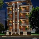 Night view cutting edge architects modern houses   homify