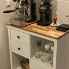 Kalax + wooden foot and top make for a sweet coffee spot !