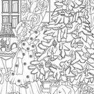 A Little Girl is Decorating a Christmas Tree coloring page   Free Printable Coloring Pages