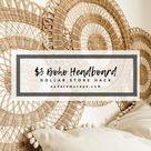 $3 Boho Headboard