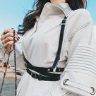 Women Body Harness Fashion / Sexy Garter Belt Bondage / Gothic High Waist Fetish Suspender Bondage