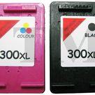 2x 300 XL DRUCKER PATRONEN Kompatibel für HP Deskjet D2560 300 XL Schwarz Farbe
