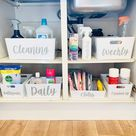 Multi Listing WHITE STORAGE BASKET - Personalised Home Organisation Caddy Cleaning Organiser Mrs Hinch Inspired Hinching  Laundry Box