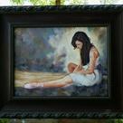 Ballerina Original Oil Painting Classico Style Impressionistic   Etsy