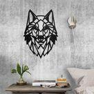 Metal Wolf Head Wall Décor