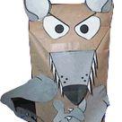 Paper Bag Wolf Puppet